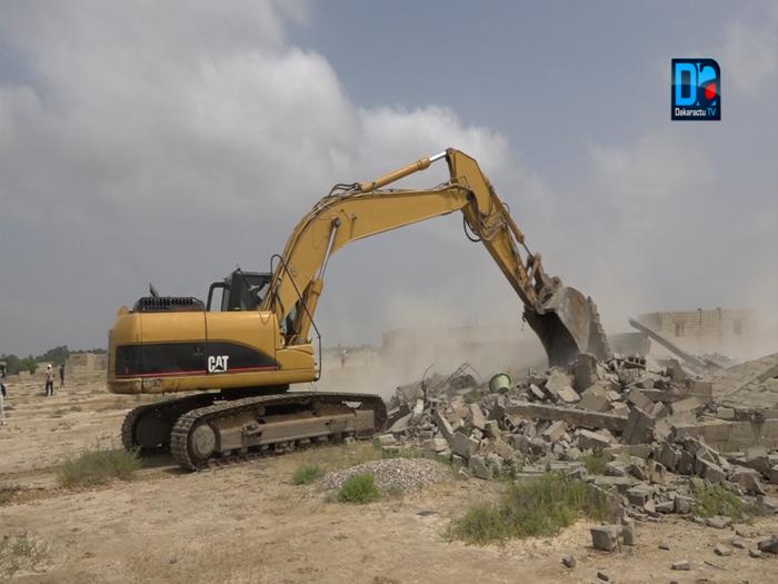 Urgent / Saint-Louis : Opération de démolition de maisons à Ngallèle-Khar Yalla, sous haute surveillance policière