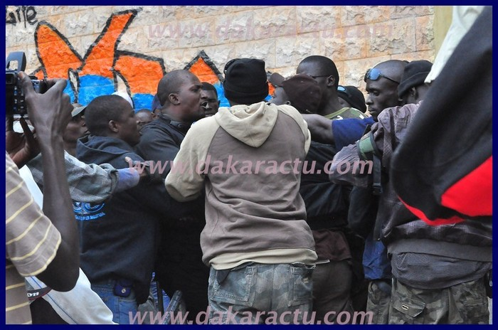 Images bagarre entre les gardes du corps d'Idrissa Seck et ceux d'Ibrahima Fall
