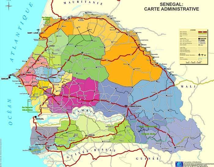 Présidentielle 2012: la carte électorale du Sénégal vue par Rfi