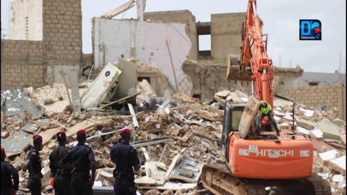 TOUBA- REPORTAGE PHOTOS/ Ce qu'il reste  des deux immeubles contigus qui se sont écoulés