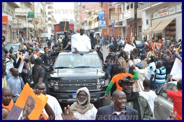 Revivez en images la marche orange d'Idrissa Seck à Sandaga et à Colobane