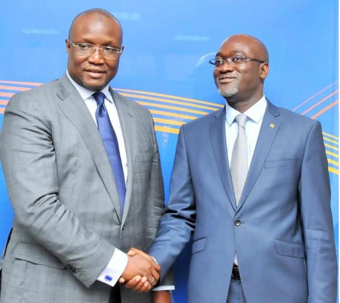 Makhtar Cissé ancien Directeur général de SENELEC et Pape Demba Bitèye son succeseur