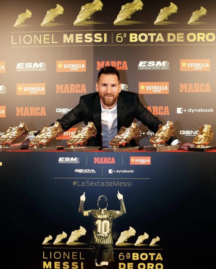 ESPAGNE : Lionel Messi a reçu son sixième Soulier d'or européen.