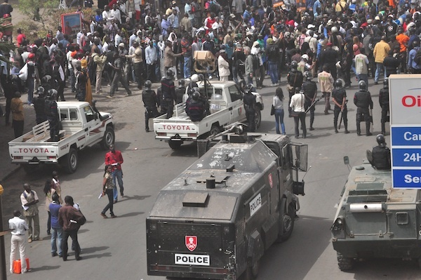 Dernière minute: Dispositif de sécurité impressionnant: Pas de responsable politique ni du M23 sur les lieux de la manifestation