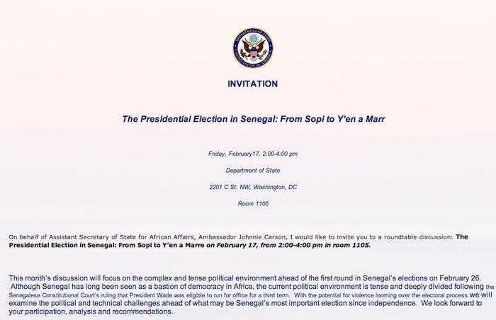 Une réunion importante sur le Sénégal demain au secrétariat d'Etat américain, à Washington