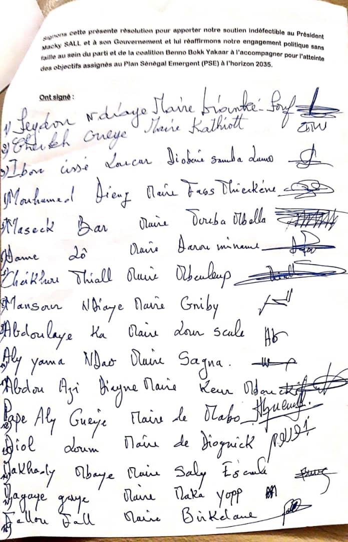 Kaffrine / Le soutien de 29 élus locaux au président de la République : pourquoi les maires PS n'ont pas signé