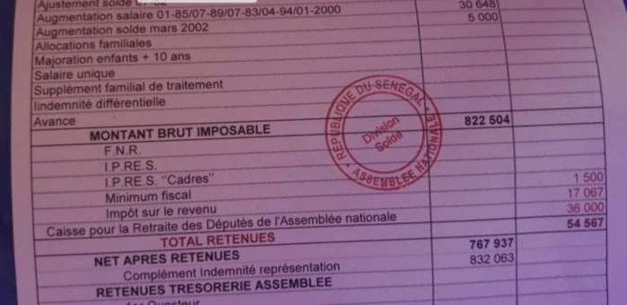 Impôt minimal sur le revenu d'un député : Un parlementaire démonte l'argument de Ousmane Sonko... (Document)
