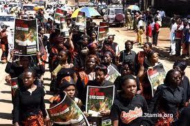 Marche pacifique de femmes sénégalaises, vendredi à Dakar
