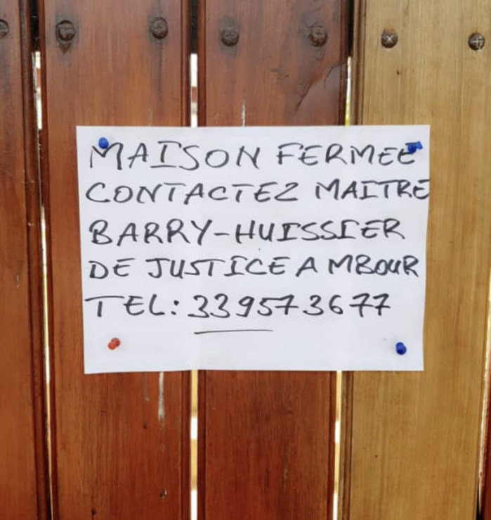 MBOUR : Plainte contre l'huissier de justice Ndèye Lissa Barry pour excès d'autorité.