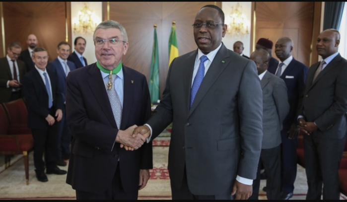 Visite à Dakar / Le Président du CIO, Thomas Bach, reçu par Macky Sall au palais