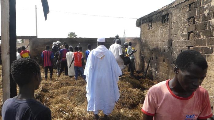 Kaolack / Incendie chez l'Imam Alioune Badara Ndao : Plus de peur que de mal (Images)