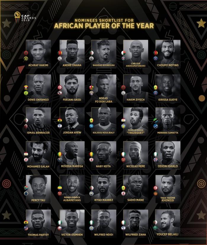 Ballon d'or de la CAF : Sadio Mané, Gana Guèye  et Kalidou Coulibaly parmi les 30 nominés