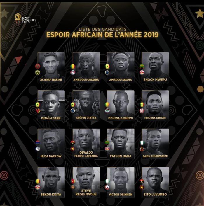 CAF AWARDS 2019 / Meilleur espoir : 4 sénégalais nominés dont Krépin et Ismaïla Sarr.