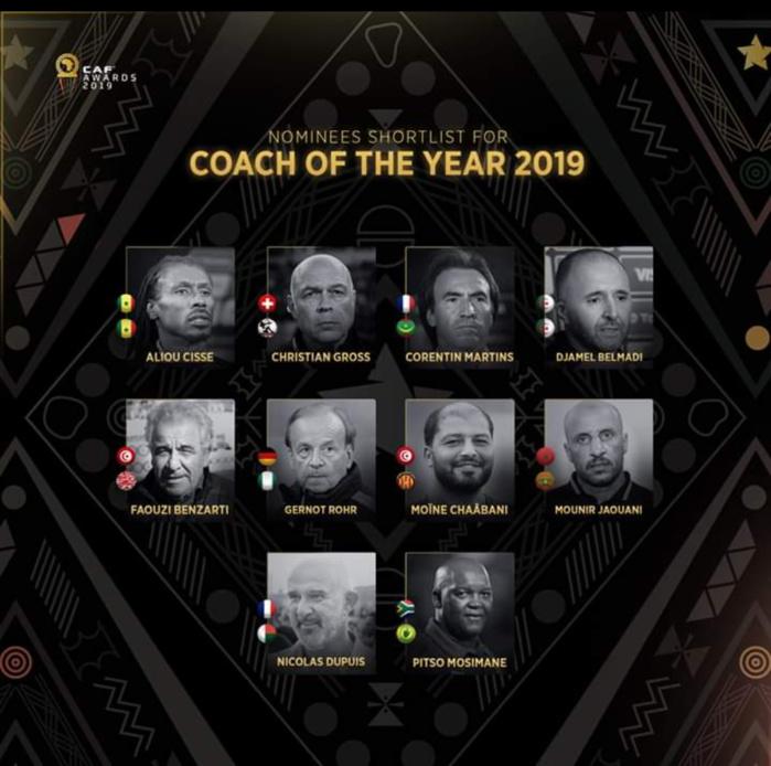 CAF AWARDS 2019 : 2e nomination d'affilée pour Aliou Cissé, en lice pour le titre du coach de l'année.