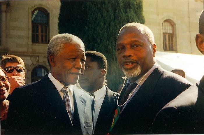 """Le """"Mandela sénégalais"""" en compagnie de son homonyme"""