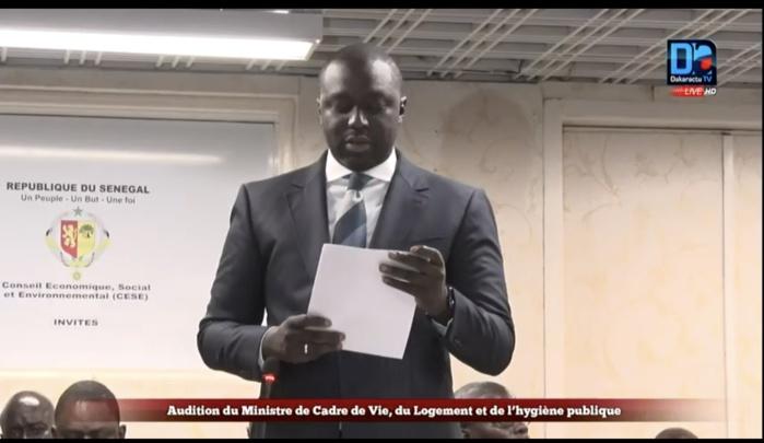 Le ministre Abdou Karim Fofana au CESE : « L'insalubrité et l'encombrement, un problème social impactant négativement sur le tourisme et les activités économiques »