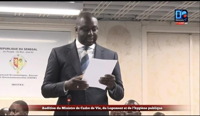 Abdou Karim Fofana au  CESE : Le ministre de l'Urbanisme liste les espaces publics libérés