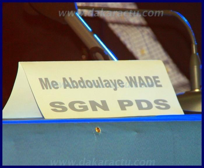 Dernière minute: Wade confirme son statut de secrétaire général national du PDS