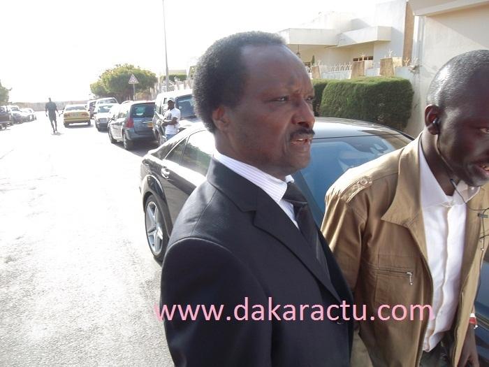 Baba Diao arrive chez le président de la République