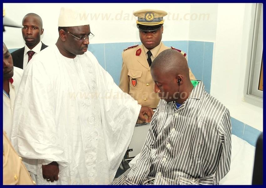 Regardez les images de la visite rendue par Macky Sall aux soldats blessés