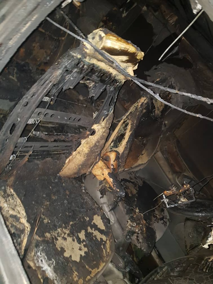 TOUBA / Un véhicule du député Sadaga brûlé... La police écarte la thèse de l'accident.