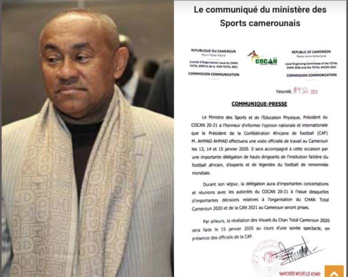 Organisation CAN 2021 : Ahmad Ahmad en visite de chantier au Cameroun du 13 au 15 janvier.