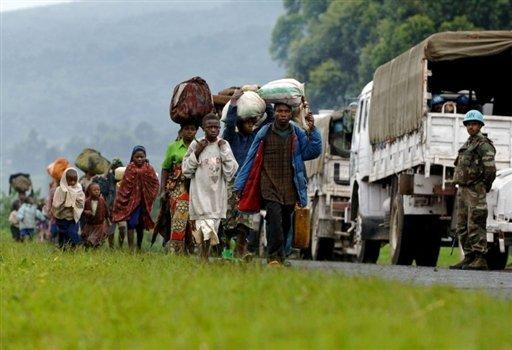 La population du Nord-Kivu en fuite au Rwanda