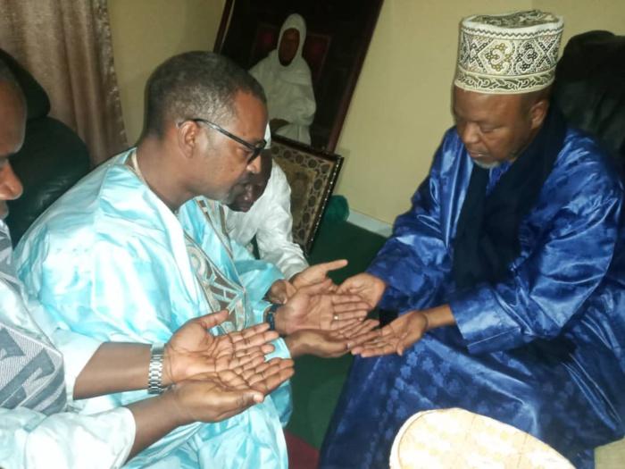 Ziara Boghal 2020 : Le directeur des domaines Mame Boye Diao reçu  par le Khalife Thierno Abdourahmane Barry.