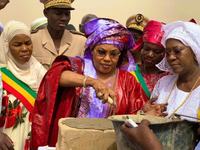 (Images) GAÉ, département de DAGANA: Cérémonie de pose de première pierre de construction d'un magasin de stockage de riz