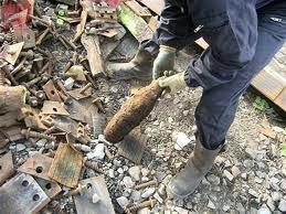 Un obus de la seconde guerre mondiale découvert au marché Serigne Mansour de Guédiawaye.