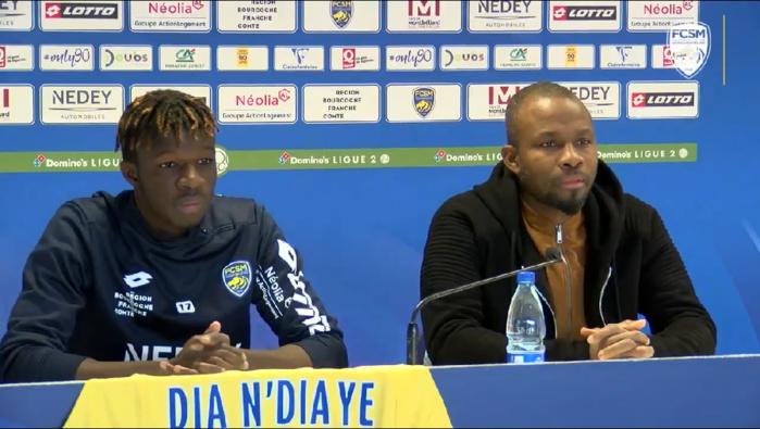 Présentation officielle à Sochaux : Omar Daf a accueilli son buteur Amadou Dia Ndiaye.