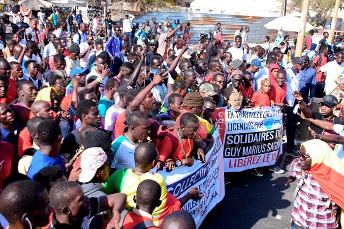 Les images de la grande marche du Collectif Nio Lank, de l'Ucad à la Poste de Médina...