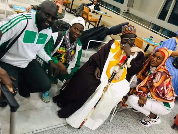 Championnats d'Afrique de Karaté : Imam Cheikh Tidiane Aly Cissé bénit l'équipe nationale.