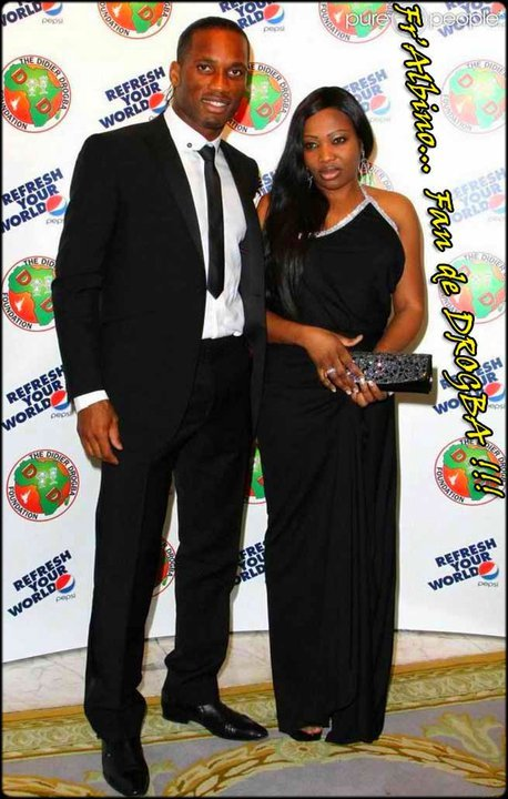 Didier Drogba et sa femme