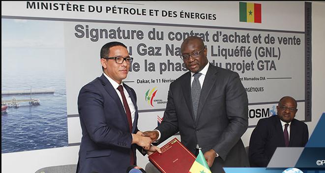 Première phase d'exploitation du champ Grand Tortue Ahmeyim (GTA) : Dakar et Nouakchott signent un accord d'achat et de vente de gaz.