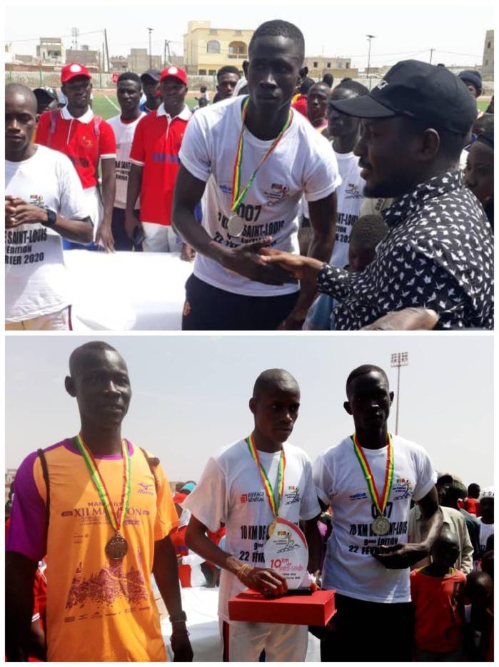 Marathon / 9eme édition «10 km de Saint-Louis» : Christian Manga, Ablaye Mbaye et Aziz Diop sur le podium.