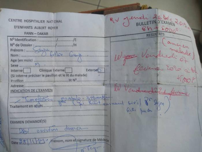 SOS : L'appel à l'aide de Serigne Fallou Gueye atteint d'une maladie grave et très couteuse