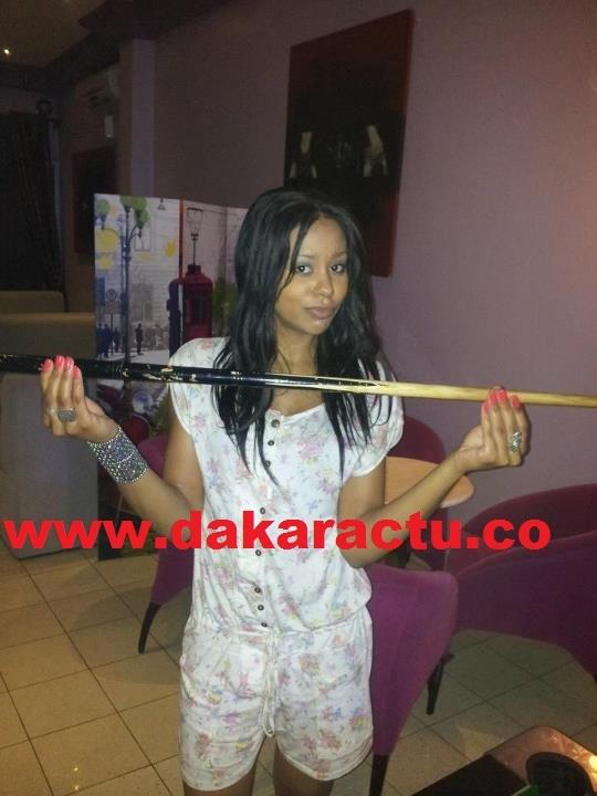 Léa Soukeyna Ndiaye, la vedette de l'émission Kinkiliba de la Rts, en mode billard