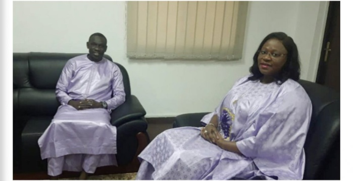"""DAKAR ARENA 2020"" : Pape Diouf reçu par le ministre de la jeunesse."