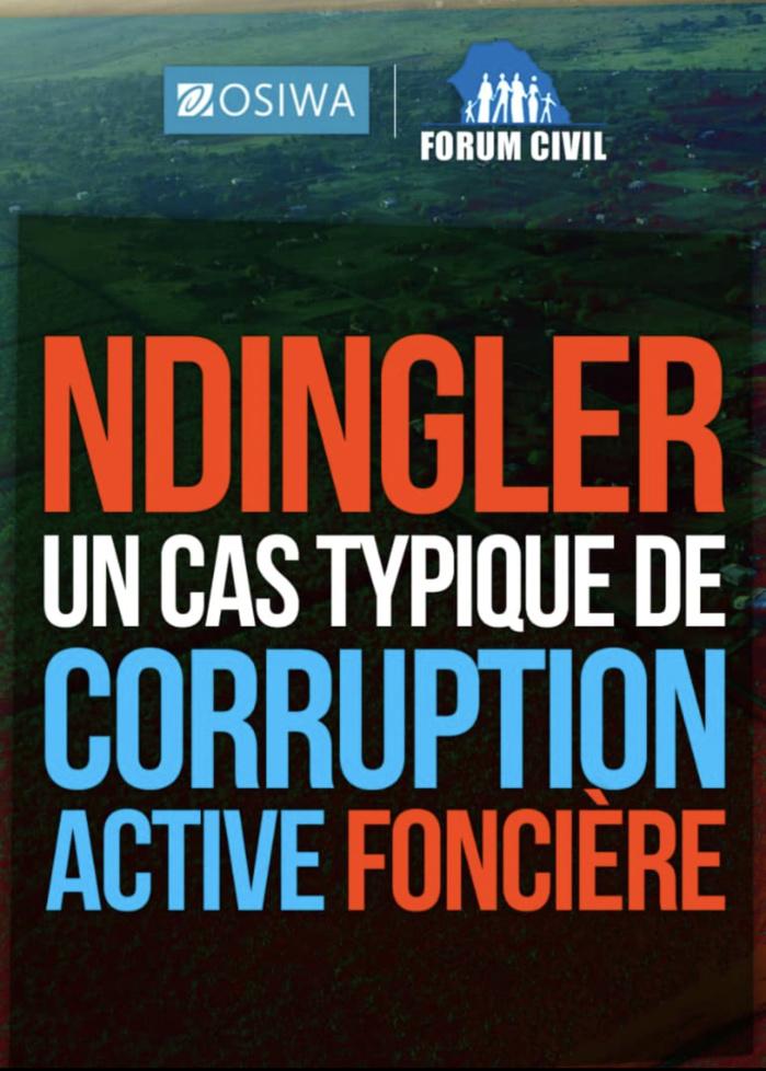 Litige foncier à Ndingler : Le Forum Civil entre dans la danse.