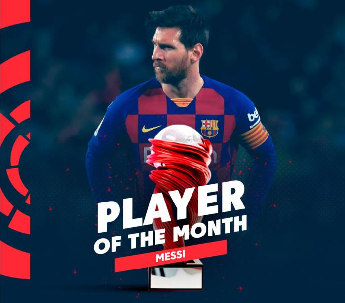 LaLIga : Lionel Messi désigné meilleur joueur du mois.