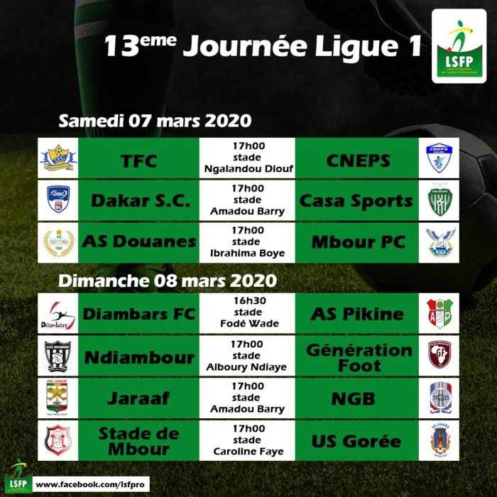 13ème journée Ligue 1 / Programme complet : Les « Invincibles » de Teungueth FC à l'assaut de la lanterne rouge, le Cneps…