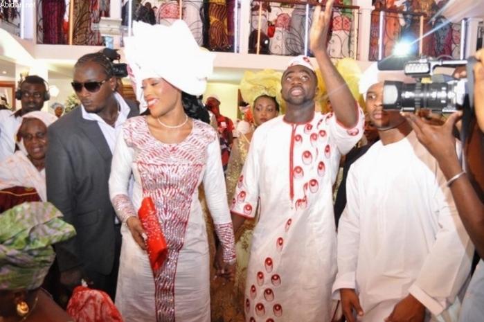 footballeur Kolo Touré et Chimène Akassou célèbrent leur mariage ...