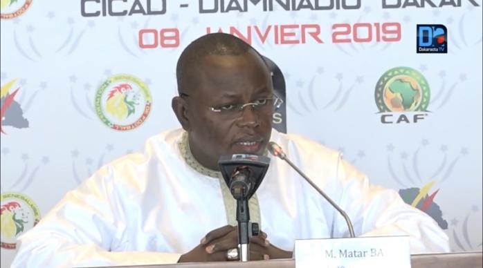 Remerciements : Le ministre des sports Matar Bâ félicite le mouvement sportif pour son implication dans la lutte anti Covid-19.