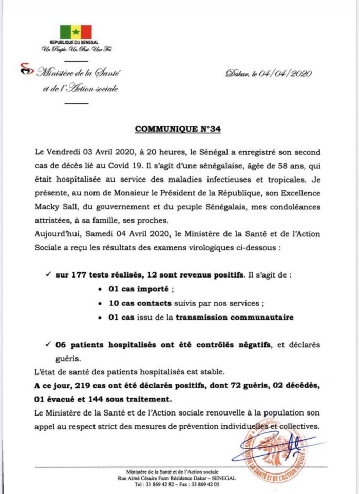 Institut Pasteur : 12 nouveaux cas testés positifs au coronavirus, 6 nouveaux guéris.