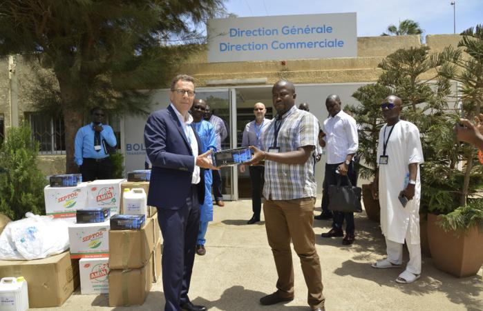 Lutte contre le covid-19 : Bolloré Transport et Logistics Sénégal et Dakar Terminal offrent du matériel au personnel soignant de Dakar-Centre.