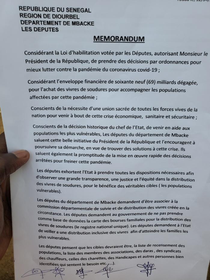 AIDE ALIMENTAIRE À TOUBA / Les députés du département se mobilisent et exigent d'intégrer le comité pour s'assurer de la transparence.