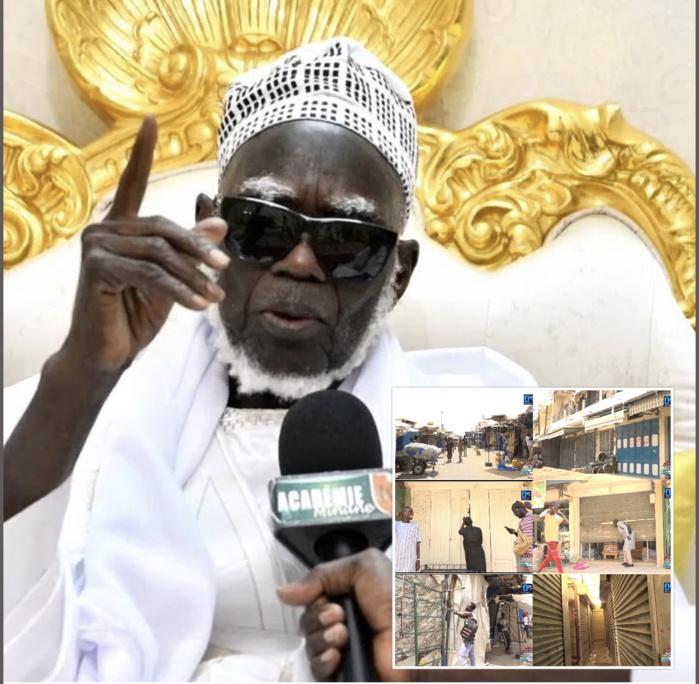 COVID-19 À TOUBA / Ndigël : Le Khalife ordonne la fermeture momentanée du marché Ocass. Énorme renfort policier pour le respect strict du port des masques ...