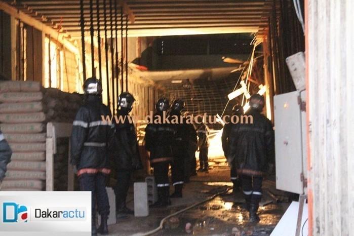 Effondrement de la dalle de l'entrepôt de la Css: Plus de peur que de mal pour les 4 blessés