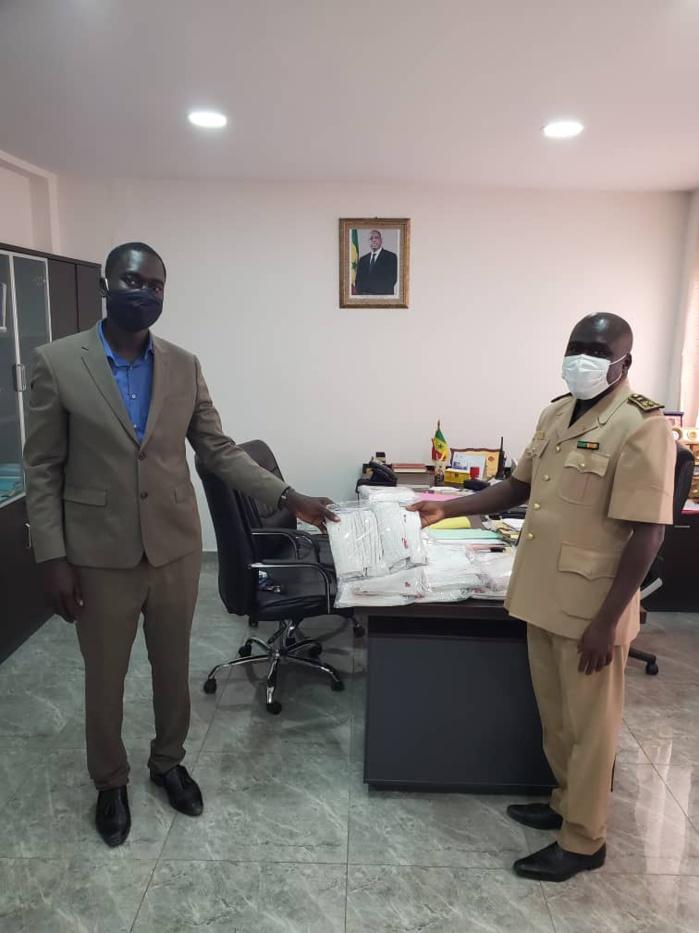 COVID-19 / MASQUES DE PROTECTION : Aly Mané équipe la Police, la Gendarmerie et les Sapeurs-pompiers.
